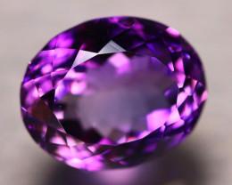 Amethyst 11.74Ct Natural Uruguay VVS Electric Purple Amethyst D3006/A2