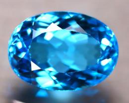 Swiss Topaz 8.55Ct Natural VVS Swiss Blue Topaz D3013/A48