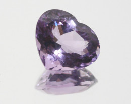 Amethyst Faceted Heart 13x15.5mm.-(8.85ct).-(SKU 259)