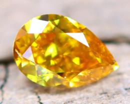 Greenish Orange Diamond 0.12Ct Natural Fancy Diamond A2707