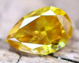 Intense Yellow Orange Dimond 0.23Ct Natural Fancy Dimond A2710