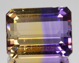 5.50Cts Awesome!! Natural Ametrine Bi -Color Emerald Cut Gem Bolivia