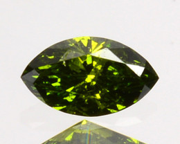 Outstanding!! 0.10 Cts Natural Diamond Vivid Green Marquise Africa