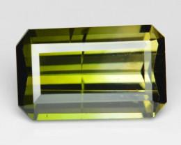 3.06 Cts Un Heated Yellowish Green Color Natural Tourmaline Loose Gemstone