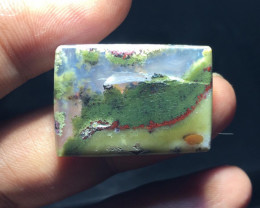 25.10 CT COLLECTOR PIECES MOSS AGATE PICTURE
