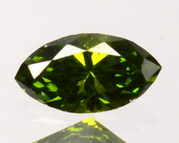 Classic!! 0.10 Cts Natural Diamond Vivid Green Marquise Africa