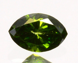Genuine!! 0.10 Cts Natural Diamond Vivid Green Marquise Africa