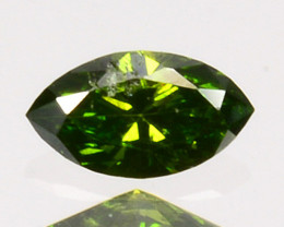 Sparkling!! 0.10 Cts Natural Diamond Vivid Green Marquise Africa