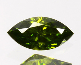 Glittering!!  0.11 Cts Natural Diamond Vivid Green Marquise Africa