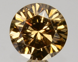 Romantic!! 0.19 Cts Natural Untreated Diamond Fancy Yellow Round Cut Africa