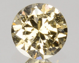 Excellent!! 0.19 Cts Natural Untreated Diamond Fancy Yellow Round Cut Afric