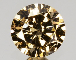 Splendid!! 0.17 Cts Natural Untreated Diamond Fancy Yellow Round Cut Africa