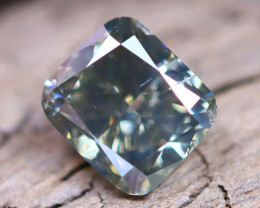 Greenish Grey Diamond 0.71Ct Untreated Genuine Fancy Diamond AT0006