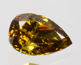 0.10 Cts Natural Untreated Diamond Fancy Yellow Pear Cut Africa