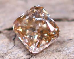 Champagne Pink Diamond 0.21Ct Untreated Genuine Fancy Diamond AT0009