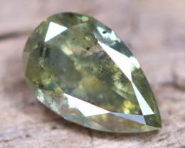 Yellowish Green Diamond 0.45Ct Untreated Genuine Fancy Diamond AT0012