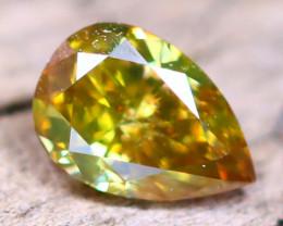 Greenish Orange Diamond 0.22Ct Untreated Genuine Fancy Diamond AT0021