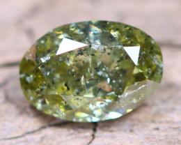 Greenish Yellow Diamond 0.65Ct Untreated Genuine Fancy Diamond AT0027