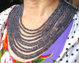 932.0 Tcw. Ten Strand Sapphire Necklace - Gorgeous