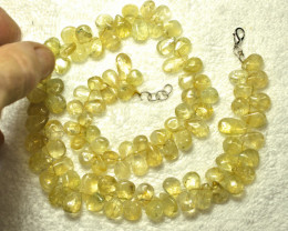 392.5 Tcw. Natural Citrine Necklace - Gorgeous