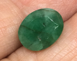 3.38 Carat Certified Natural Emerald Zambia Africa !