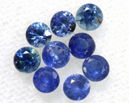 1.82 CTS BLUE SAPPHIRES FACETED PARCEL 9 PCS PG-3411