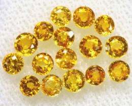 1.20 CTS YELLOW  SAPPHIRES FACETED PARCEL 16 PCS PG-3416