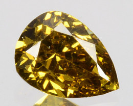 Amazing!! 0.23Cts Natural Untreated Diamond Fancy Yellow Pear Cut Africa