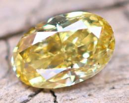 Yellow Diamond 0.27Ct Untreated Genuine Fancy Diamond AT0029