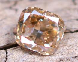 Champagne Pink Diamond 0.11Ct Untreated Genuine Fancy Diamond AT0030