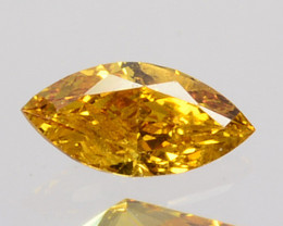 Stunning 0.10 Cts Natural Untreated Diamond Fancy Yellow Marquise Cut Afric