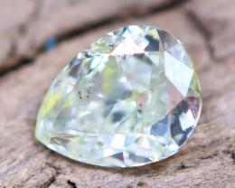Greenish Yellow Diamond 0.17Ct Untreated Genuine Fancy Diamond AT0031