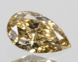 Outstanding!!! 0.21Cts Natural Untreated Diamond Fancy Yellow Pear Cut Afri