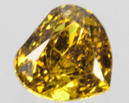 Genuine!! 0.13 Cts Natural Untreated Diamond Fancy Yellow Heart Cut Africa