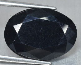 10.86 Cts Very Rare Jet Black Color Natural Spinel Gemstone