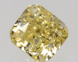 Mind Blowing!! 0.13 Cts Natural Untreated Diamond Fancy Yellow Octagon Cut