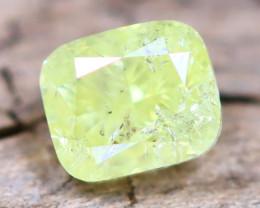 Greenish Yellow Diamond 0.32Ct Untreated Genuine Fancy Diamond AT0032