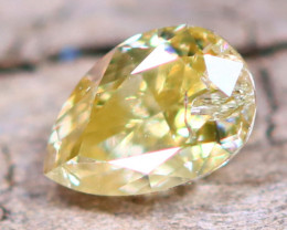 Yellow Diamond 0.18Ct Untreated Genuine Fancy Diamond AT0034