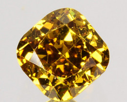 Ravishing!! 0.17 Cts Natural Untreated Diamond Fancy Yellow Cushion Cut Afr