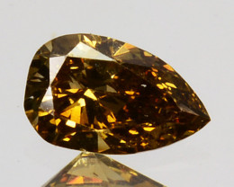 Brilliant!! 0.15 Cts Natural Untreated Diamond Fancy Yellow Pear Cut Africa