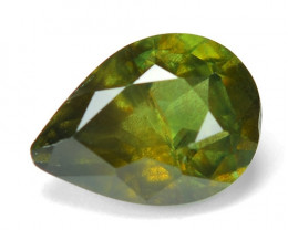 1.60 Cts Amazing Rare Natural Fancy Green Party Sapphire Loose Gemstone