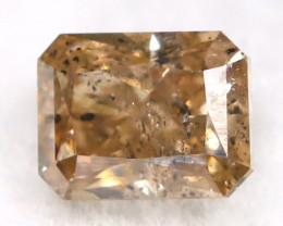 Champagne Pink Diamond 0.23Ct Untreated Genuine Fancy Diamond AT0046