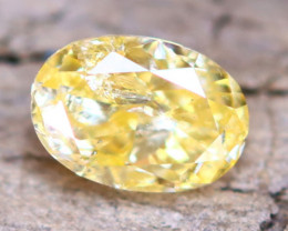 Intense Yellow Diamond 0.24Ct Untreated Genuine Fancy Diamond AT0047