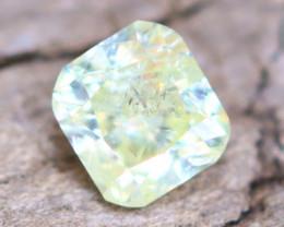 Yellowish Green Diamond 0.14Ct Untreated Genuine Fancy Diamond AT0049