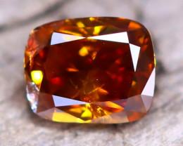 Orange Diamond 0.24Ct Untreated Genuine Fancy Diamond AT0050