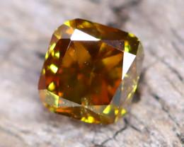 Brownish Orange Diamond 0.17Ct Untreated Genuine Fancy Diamond AT0059