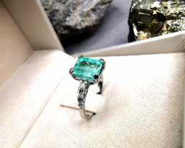 2,68ct Colombian Emerald 18k Solid Gold Ring  ref 62/76 natural emerald col