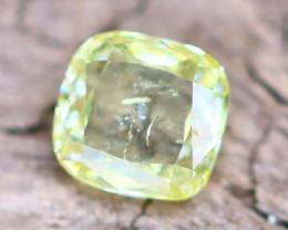 Greenish Yellow Diamond 0.24Ct Untreated Genuine Fancy Diamond AT0064