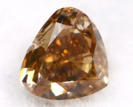 Champagne Pink Diamond 0.38Ct Untreated Genuine Fancy Diamond AT0074