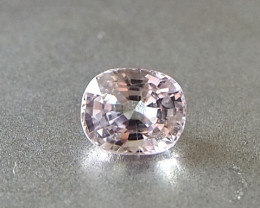 1.09ct clean unheated light pink sapphire